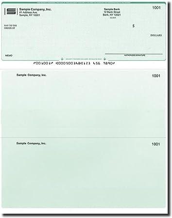 Computer Laser Checks Check on Bottom Business Voucher Check Stock 1000 Sheets Green Diamond