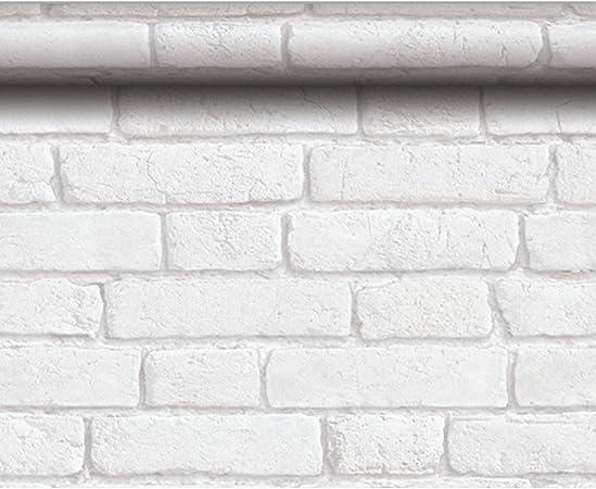 Papier Peint Design Briques Anciennes Blanches Couleur Blanc
