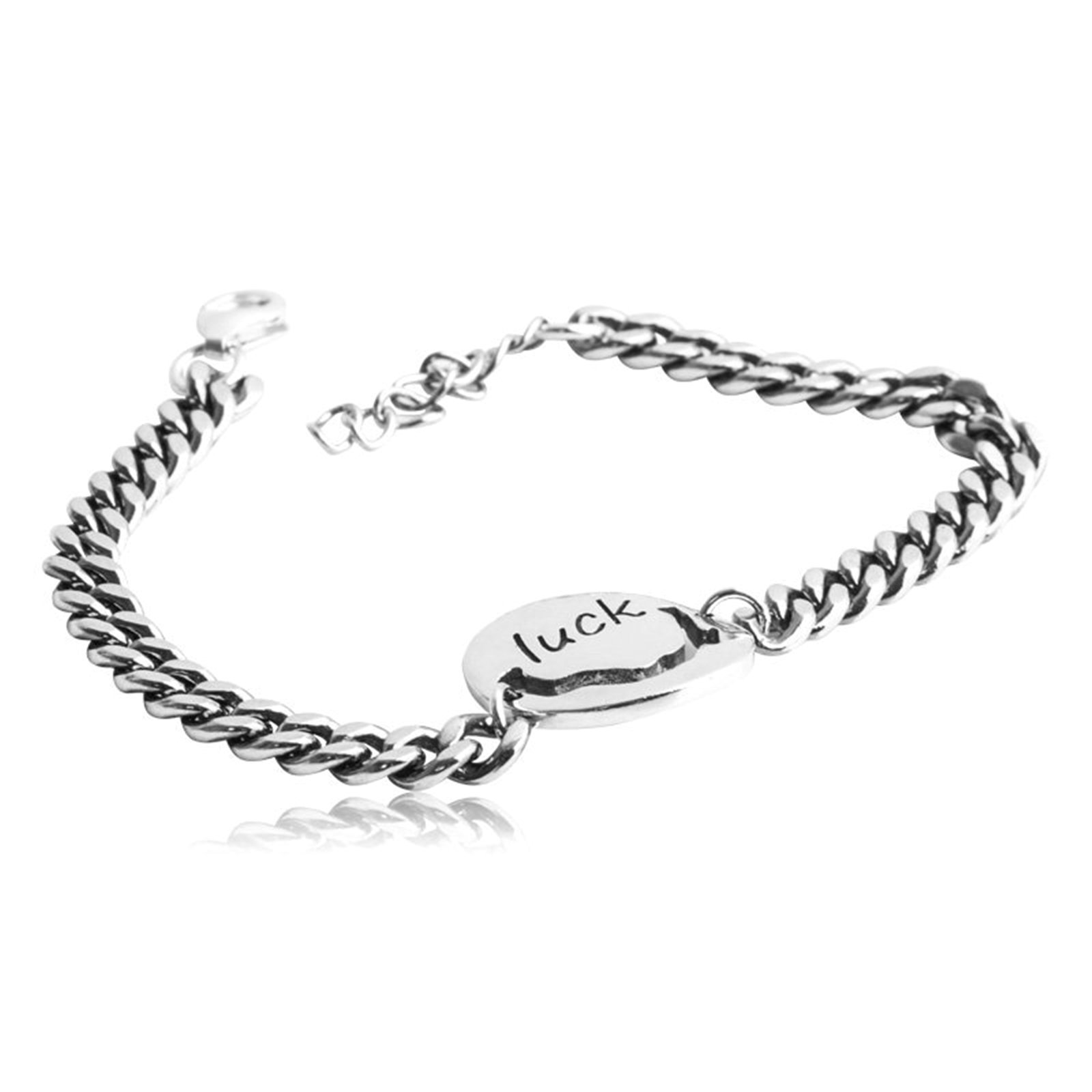 Daesar 925 Silver Bracelet For Women And Men Luck Bracelet Silver Chain Length:17CM