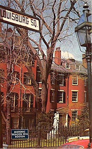 Historic Louisburg Square on Beacon Hill Boston Massachusetts Postcard