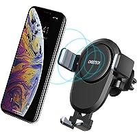 CHOETECH Cargador Inalambrico Coche, Wireless Car Charger Un Toque Diseño Carga Rápida en la Ventilación de Vehículo para Celular GPS iPhone 8/8 Plus, iPhone X/XS/XS MAX/XR, Galaxy S8/S8 Plus