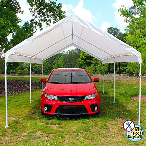 (King Canopy Universal Canopy - 10 by 20 -Feet, 6 Leg, White )
