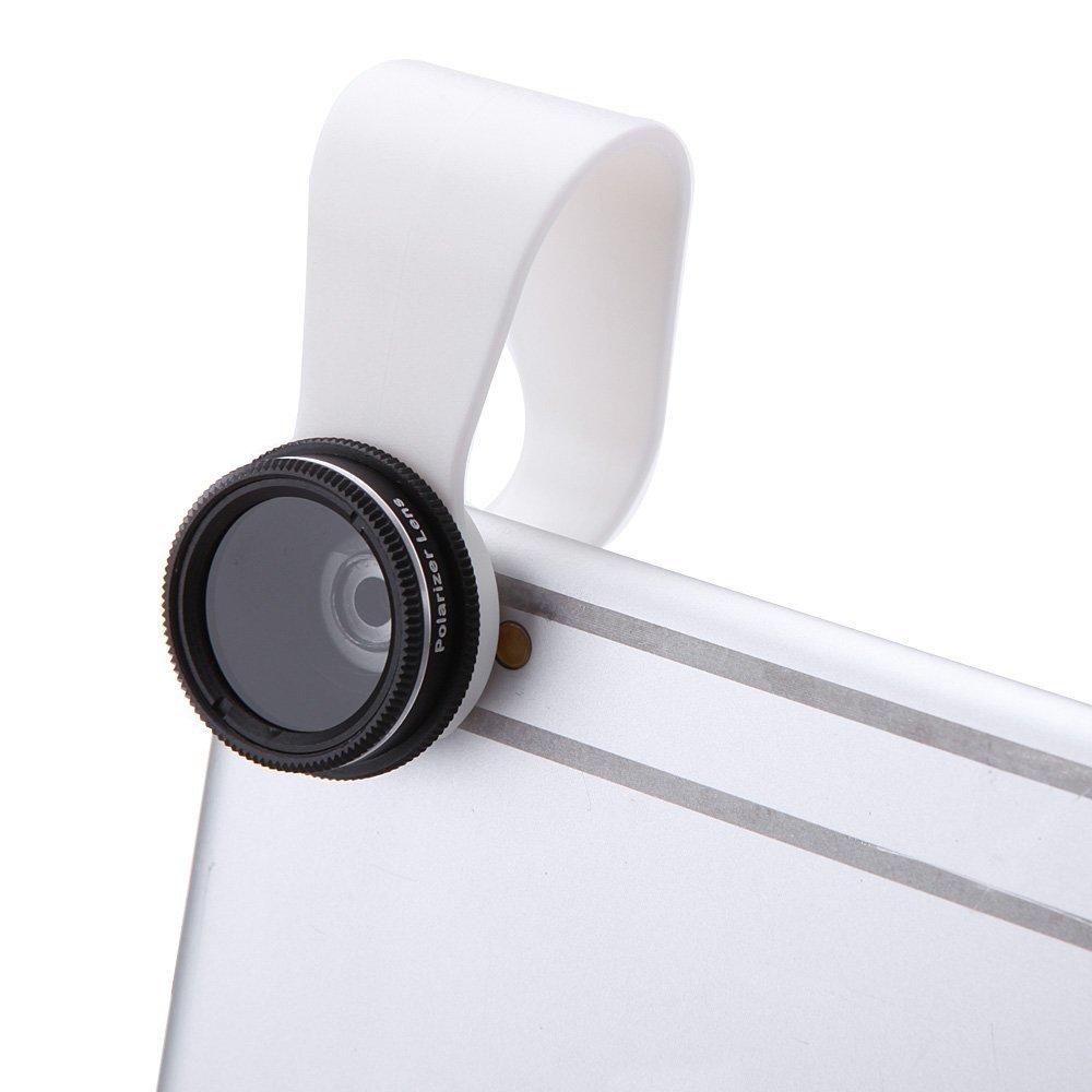 TOOGOO R Staccabile Clip-on CPL Polarizzatore lente con Copertina per iPhone 6 5 Samsung Xiaomi Sony iPad Mini