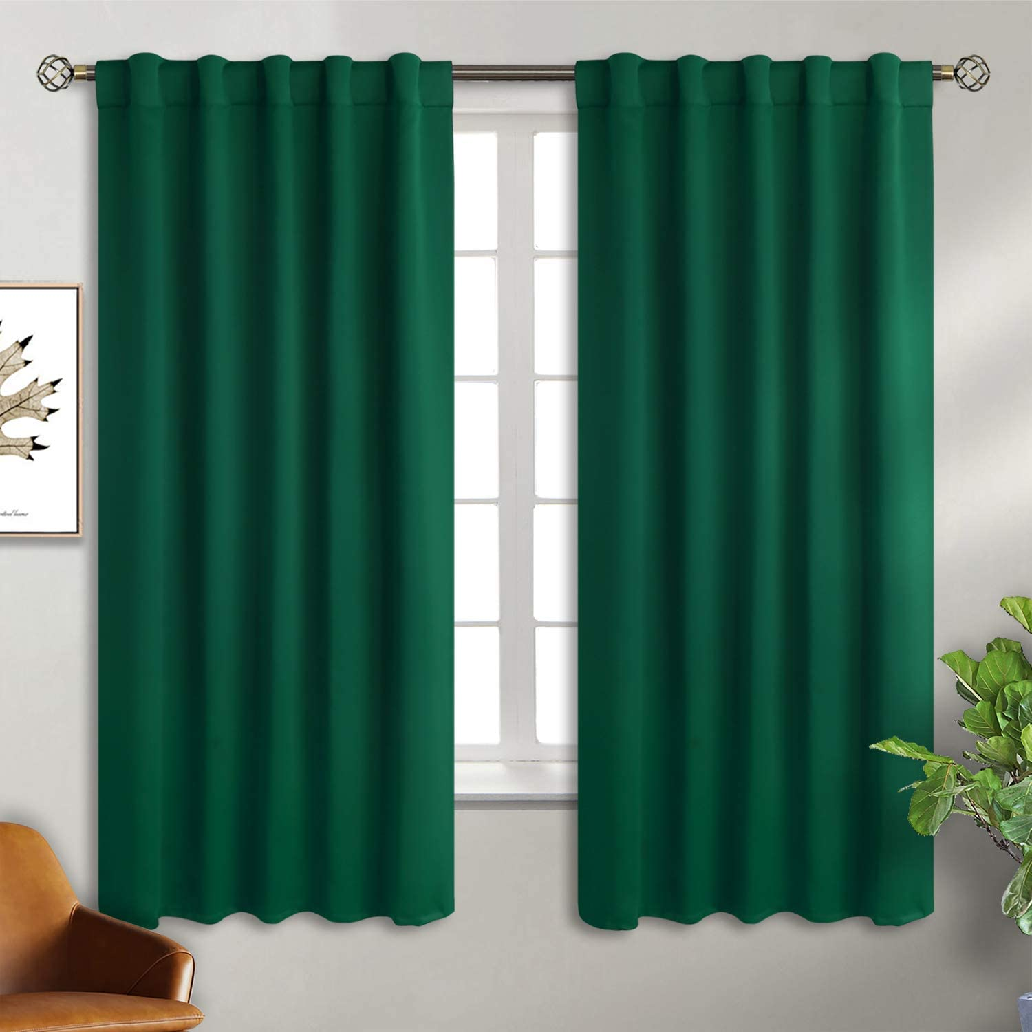 Curtain Blackout Thermal Insulated 2 Privacy Blinds Drapes
