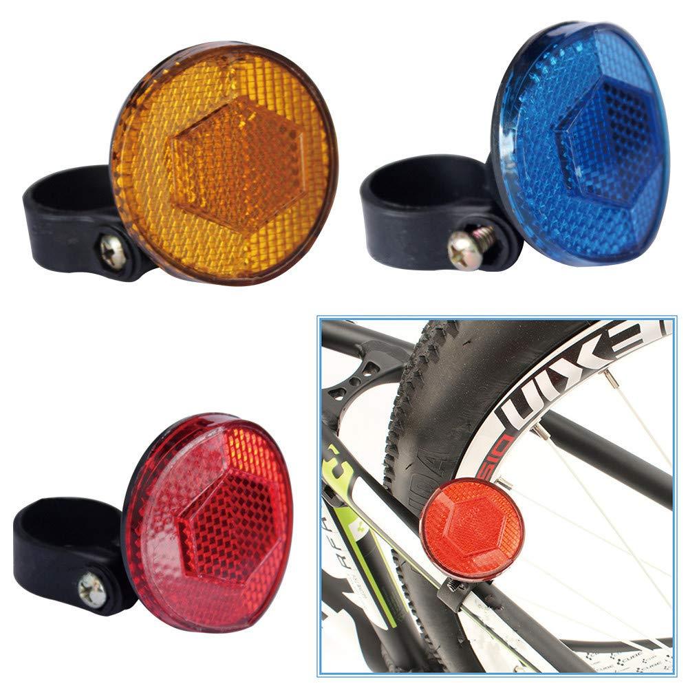 1PC R/éflecteur Davertissement Arri/ère de V/élo VTT BMX Bande DAvertissement R/éfl/échissante BEKUTY R/éflecteurs de S/écurit/é Fluorescents V/élo de Route de Montagne