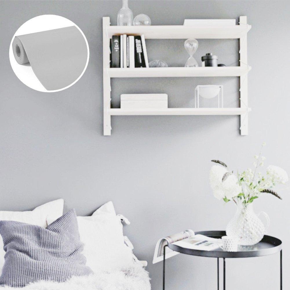 WTD - Papel pintado autoadhesivo, diseñ o de pared, color gris diseño de pared Junxave