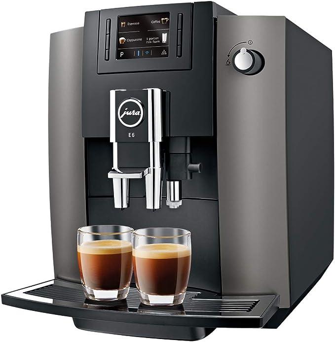 JURA E6 Independiente Máquina espresso Acero inoxidable 1,9 L 16 ...
