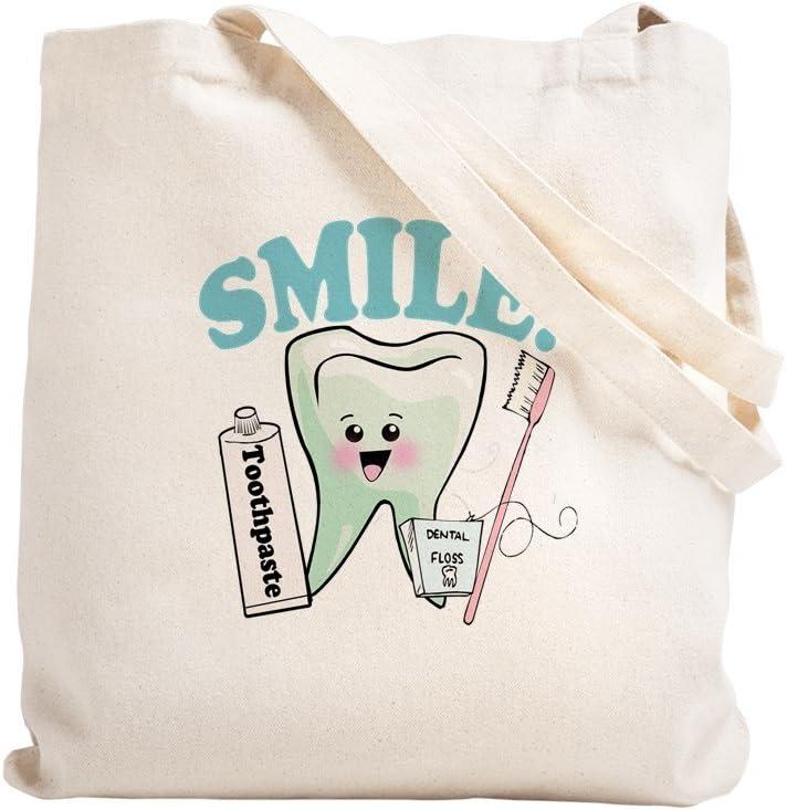 Taille M Toile Sac de courses /Assistant dentaire Naturel/ tissu kaki CafePress/ /Sac en toile