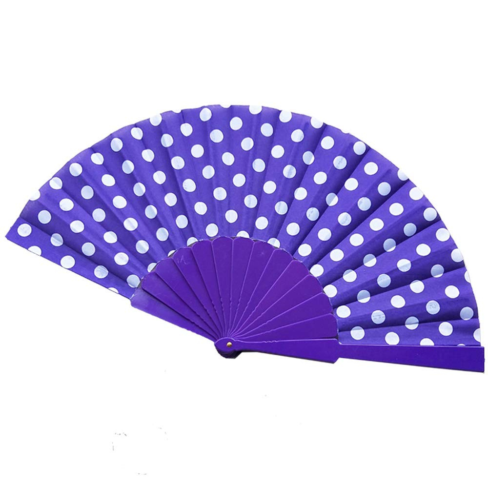 Fxbar 8 Colors Chinese Folding Paper Fan Retro Hand Loot Fans Wedding Party Favors