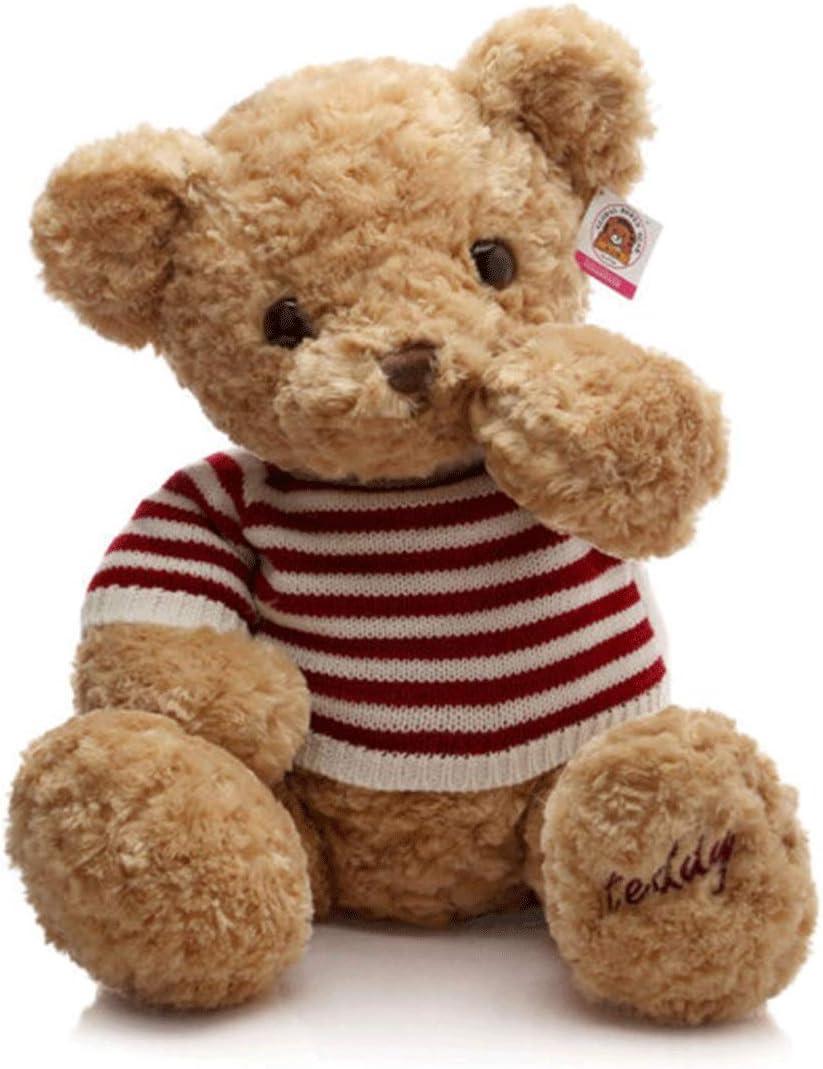 Jielongtongxun ぬいぐるみ、セーターのぬいぐるみテディベア、人形のテディベア、誕生日プレゼント、ブラウン/カーキ 最高の贈り物 最高の贈り物 (Color : Khaki, Size : 1.2m)