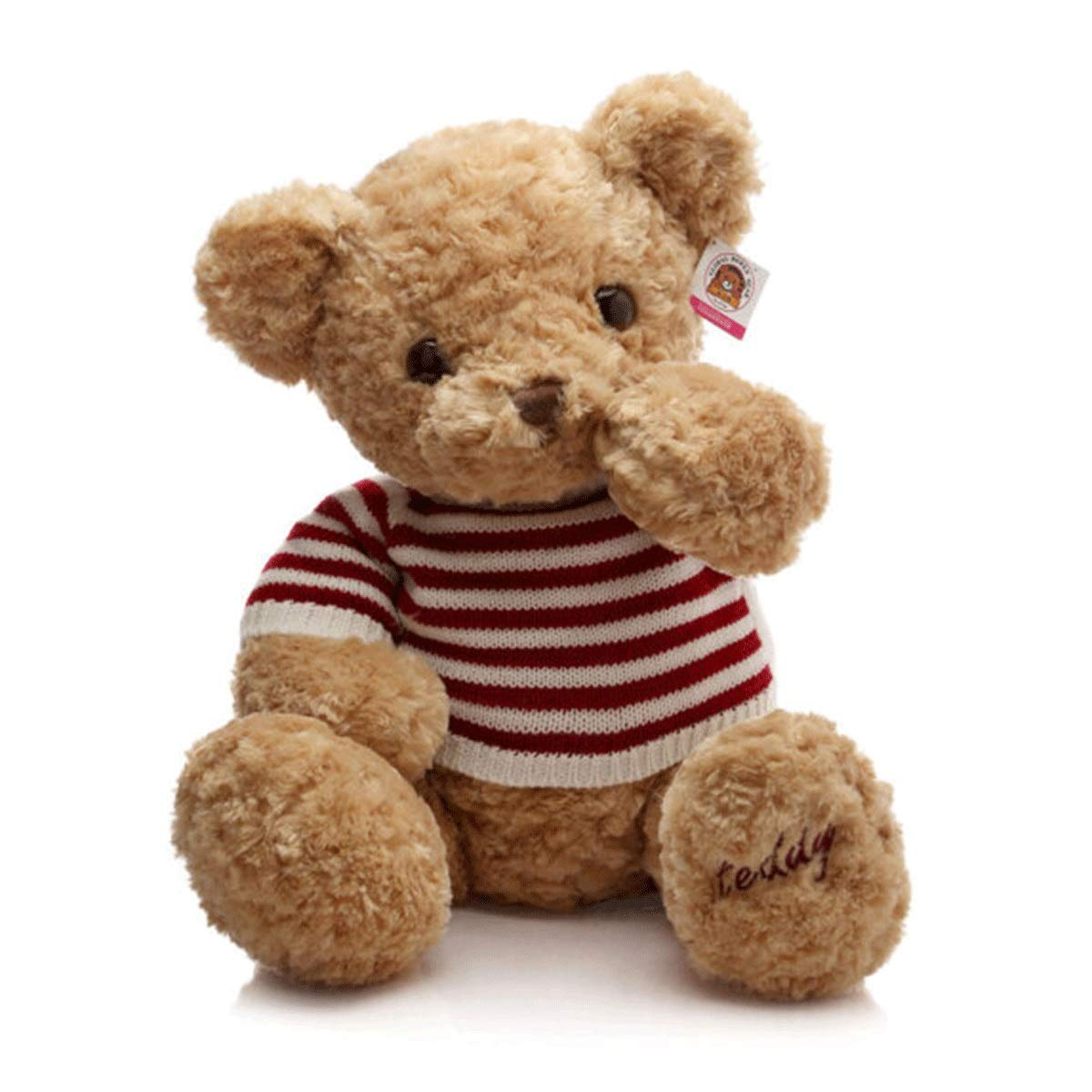 Khaki 80cm Khaki 80cm 8haowenju Plush Toys, Sweater Plush Teddy Bear, Doll Teddy Bear, Birthday Present, Brown Khaki, Various Sizes, Best Gift Latest Models (color   Khaki, Size   80cm)