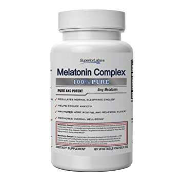 Superior Labs Melatonin Complex - 100% NonGMO Safe from Additives, Stearates, Gluten and Other...