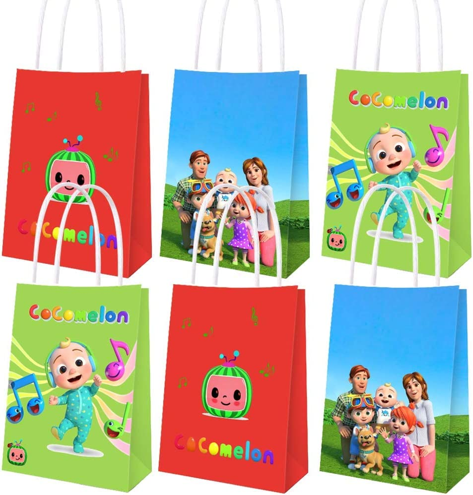 Including 3 Patterns for Kids Birthday Party Decorations Birthday Party Gift Goody Treat Candy Bags 15 PCS Party Gift Bags for Cocomelon Party Supplies Decoration