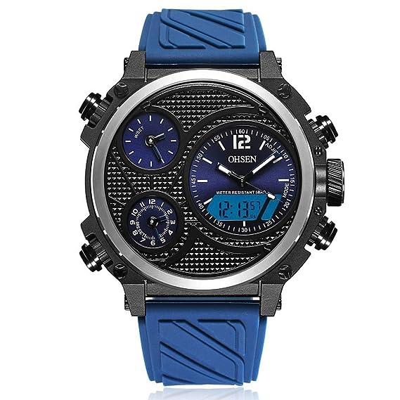 sportuhr ad1801 Casual Silicona Correa Cuarzo Reloj electronico ...