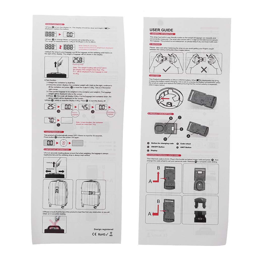 Vxhohdoxs P/èse-bagage num/érique 3 en 1 avec cadenas TSA et sangle de ceinture