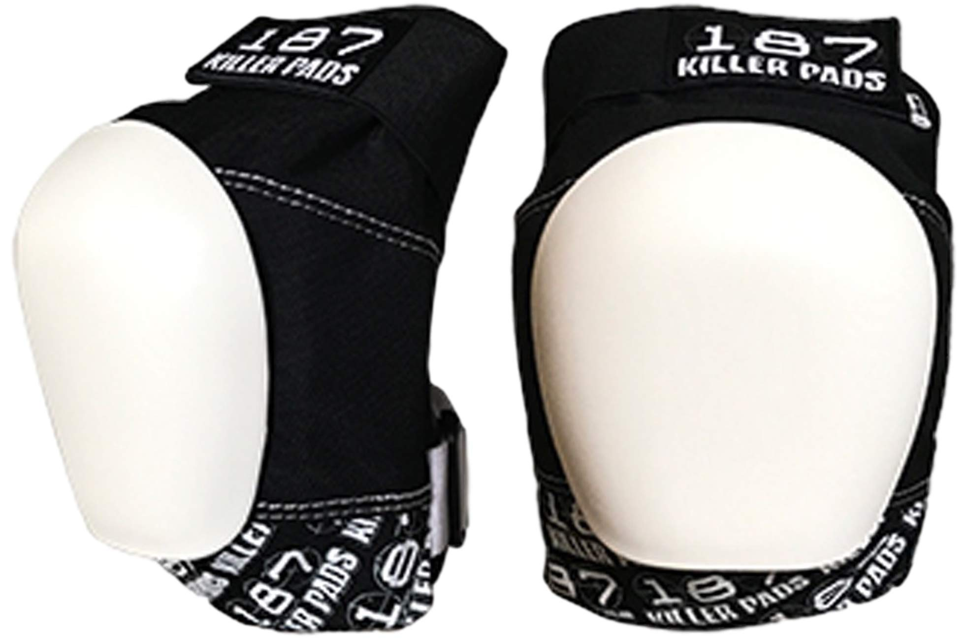 187 Killer Safety Gear - pro Knee Pads Black/White (X-Small)