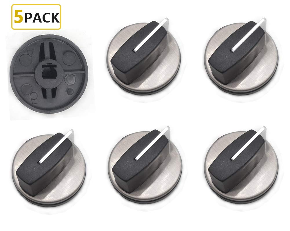 Wb03T10325 Knobs Burner Control Knobs, General Electric Cooktop Knobs Replacements Fit, for Range/Stove/Oven Knob AP5690210 PS3510510 (5 Pack)