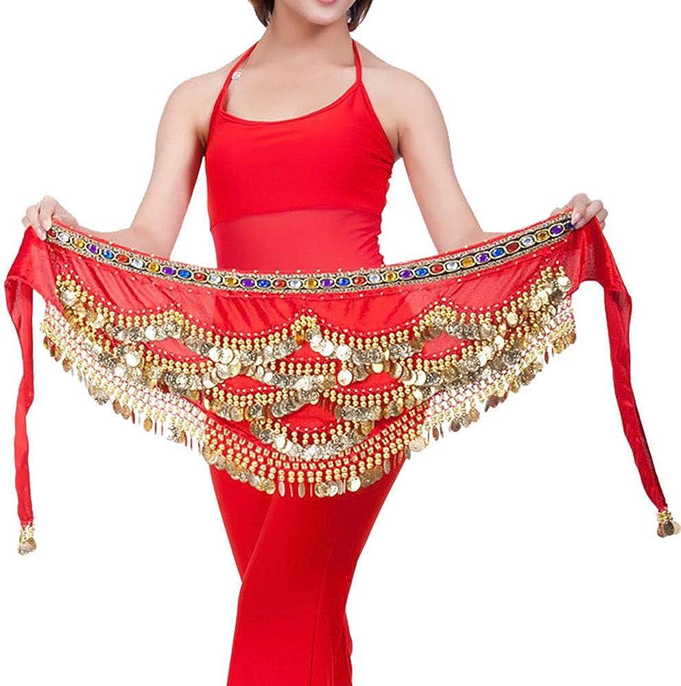 Lady Girls Belly Dancing Belt Waist Chain Belly Dance Hip Scarf Belt Tribal Sash-Colorful Designed-New Arrival