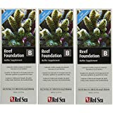 (3 Packs) Red Sea Fish Pharm ARE22023 Reef Foundation Buffer Supplement-B for Aquarium, 500ml