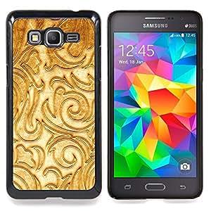 - Floral White Fancy Texture Relief/ Duro Snap en el tel????fono celular de la cubierta - Cao - For Samsung Galaxy Grand Prime G530H G5308