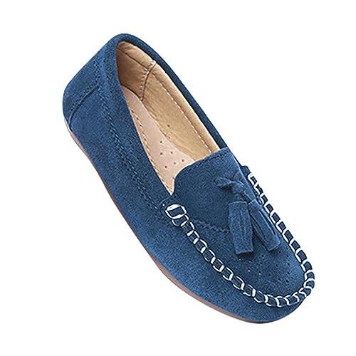 YiJee Niños Borlas Mocasines Loafers Casual Comodidad Zapatos Azul 37: Amazon.es: Zapatos y complementos