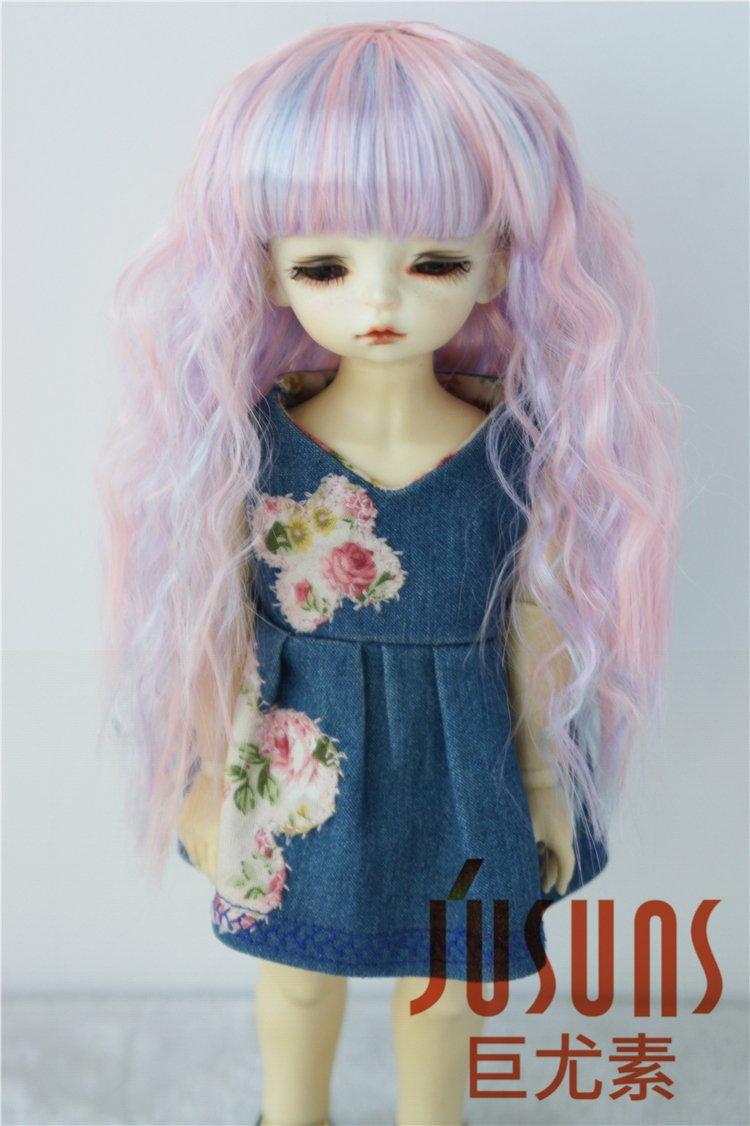 8-9inch Highligh Fairly Sobazu Doll Wigs Synthetic Mohair SD 1//3 BJD Doll Hair