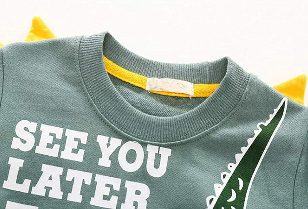 Reciy Felpe Casual Pullover Maglietta Tops in Cotone per Bambino 1-8 Anni