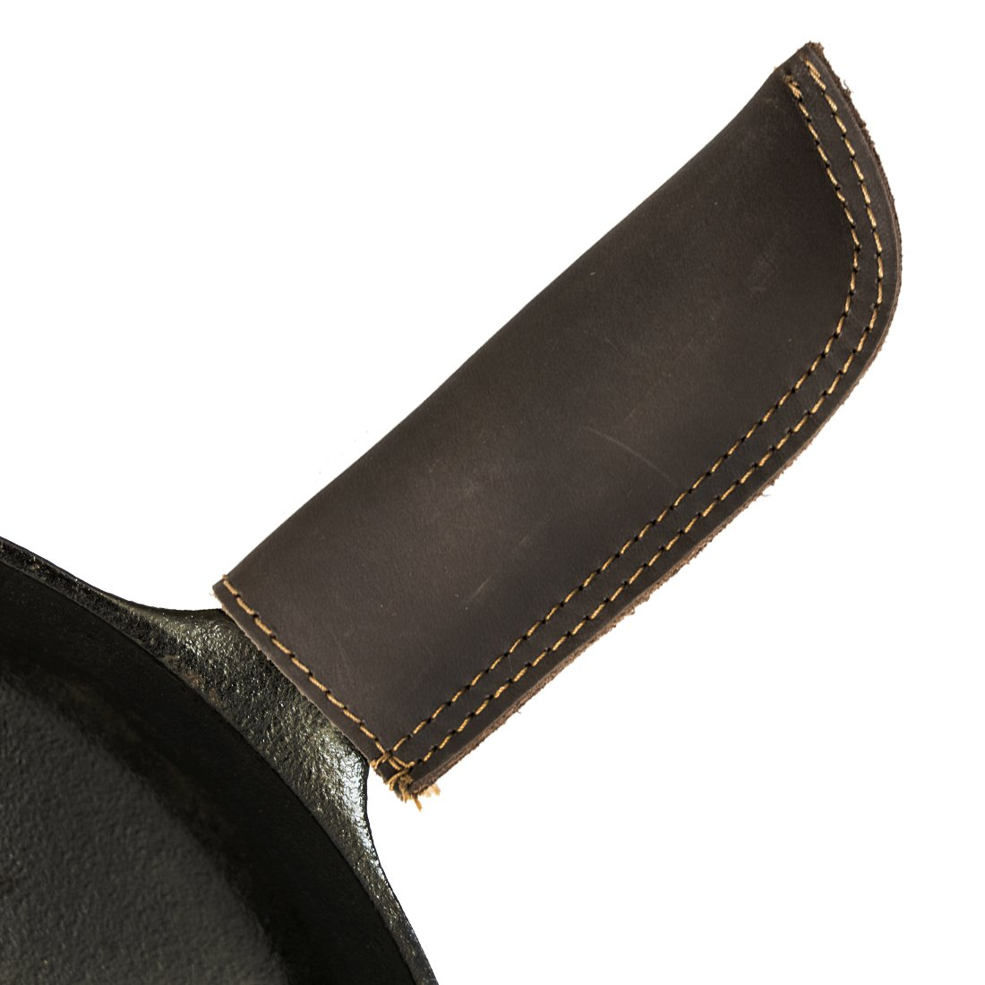 Leather Hot Handle Holder (Cast Iron Panhandle Potholder) Double Layered, Double Stitched and Handmade by Hide & Drink :: Espresso