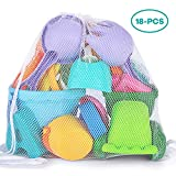 YIZI Beach Toy Set - Soft Mesh with Backpack Mesh Bag - Over Fun Sand Toys Set for Girls and Boys Kids Outdoor Toys