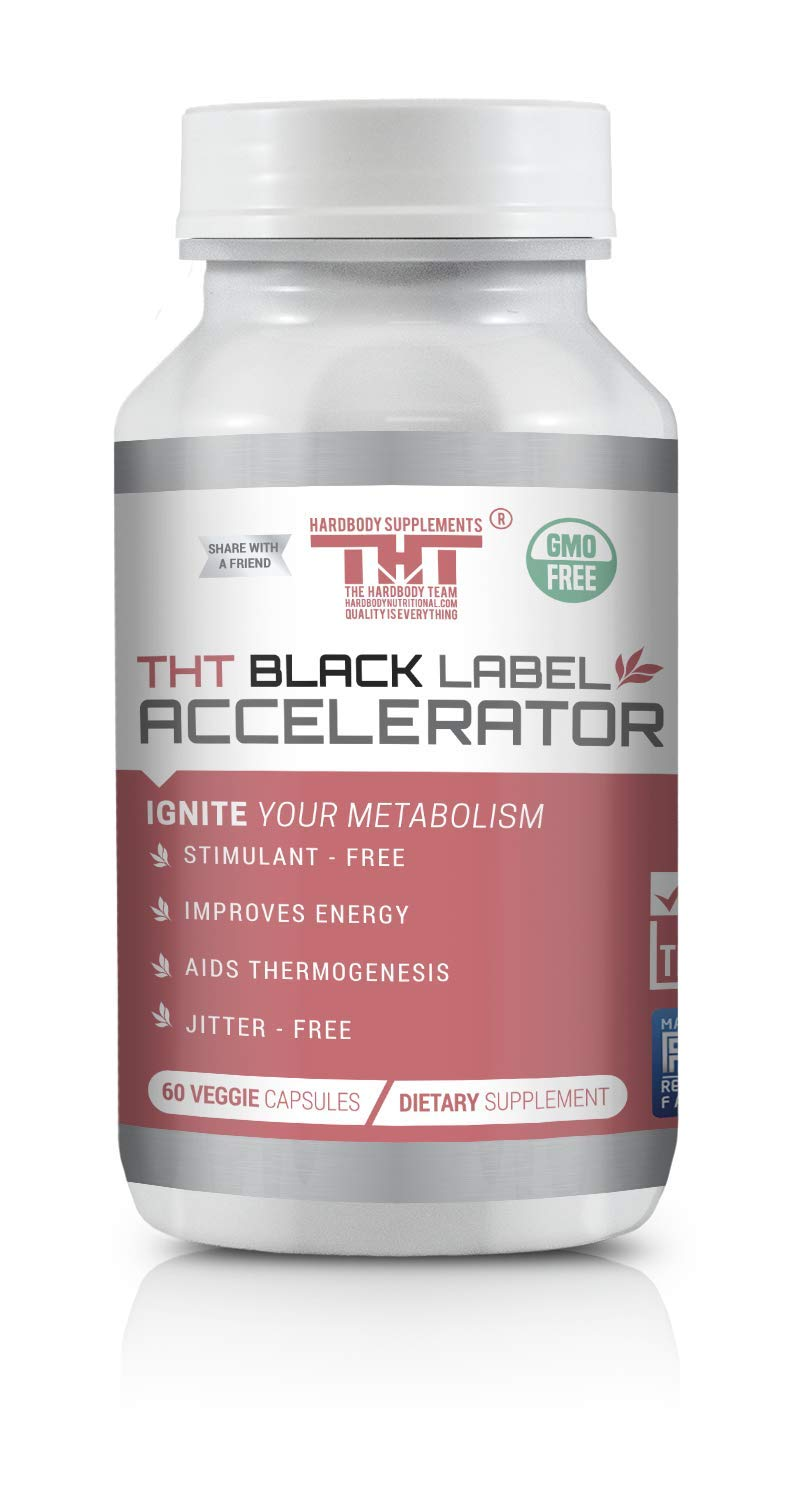 Black Label Accelerator | Designed for Toning and Slimming | Stimulant Free Diet Pill for Men and Women by HARDBODY SUPPLEMENTS THT THE HARDBODY TEAM HARDBODYNUTRITIONAL.COM QUALITY IS EVERYTHING