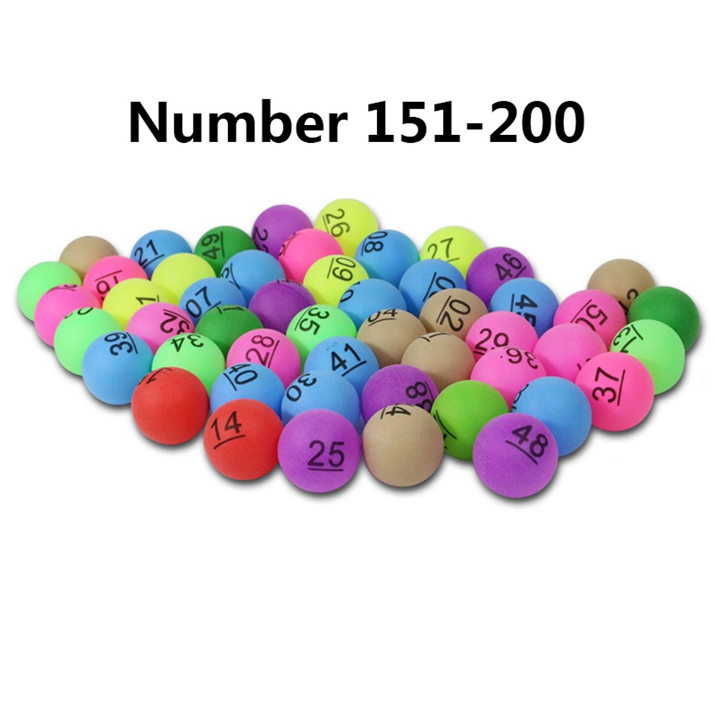 Dire-wolves 50 Pieces Colorful Table Tennis Balls With Printing Number Practice Trainning Ping Pong Balls