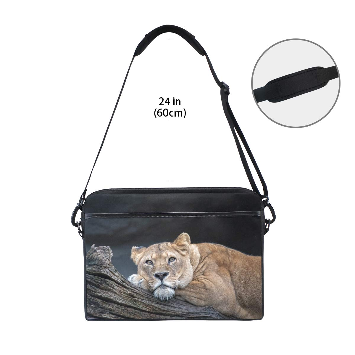 Briefcases Shoulder Bags Suitable for 15 Inch Computers Handbags Lionmens and Womens Computer Bags