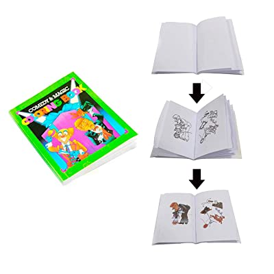 Kingmagic Coloring Magic Book Change Color Magic Book Close-Up Magic Fun Book Magic Tricks Magic Toy Magic Kits Mini Size(10.5cm13.7cm): Toys & Games