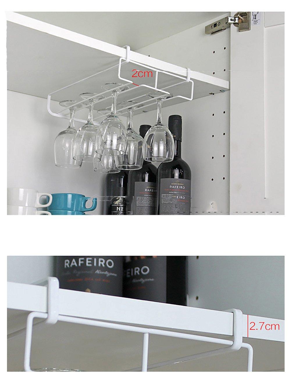/Perchero de 8/ganchos para colgar bajo estantes almacenamiento para colgar tazas Fashionbabies Housewares/ vasos copas de vino; colgador organizador de corbatas y cinturones