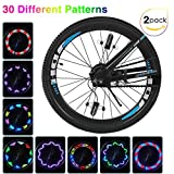 Putmax with Bike Wheel Lights - Bike Lights with Motion and Light Sensor-Safety Tire Light for Kids Adult Riding at Night - 2ct Bike Spoke Lights