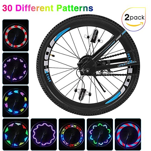 Putmax with Bike Wheel Lights - Bike Lights with Motion and Light Sensor-Safety Tire Light for Kids Adult Riding at Night - 2ct Bike Spoke Lights by Putmax