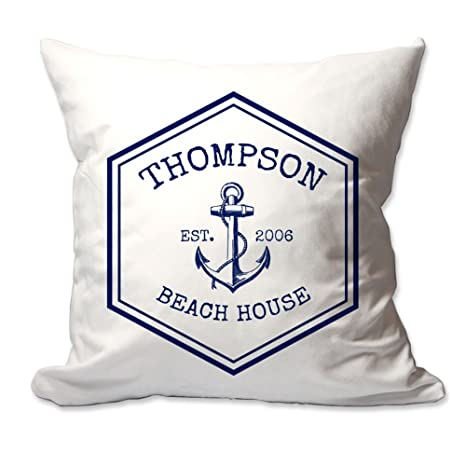 Amazon.com: Personalizado familia de Nautical Beach House ...