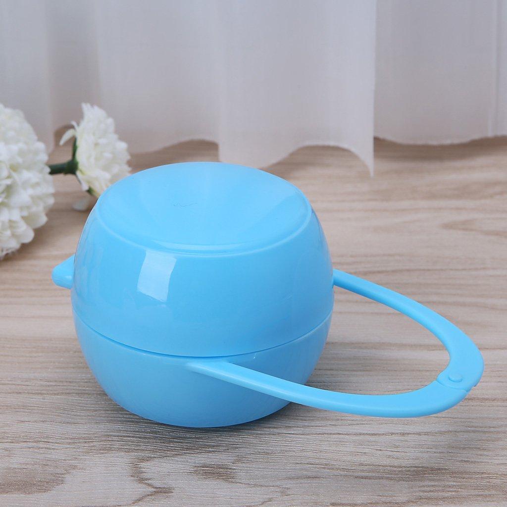 Port/átil Unisex Baby Boy ni/ña Infant Chupete Nipple Cradle Case Holder Caja azul