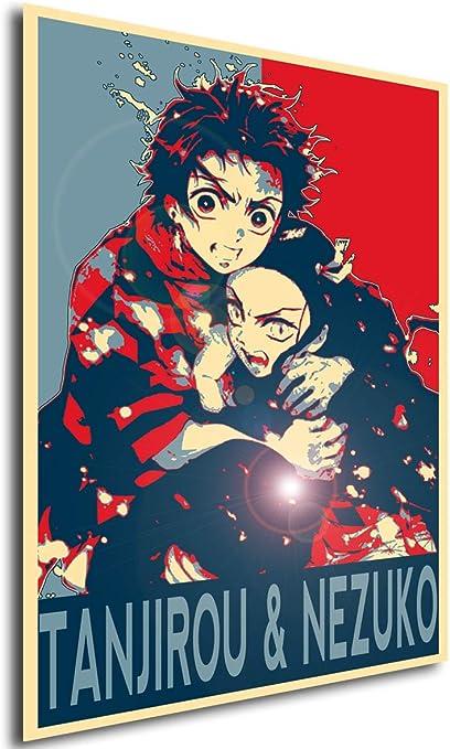 Demon Slayer Tanjirou /& Nezuko Variant 2 A3 42x30 Propaganda Instabuy Poster Kimetsu No Yaiba