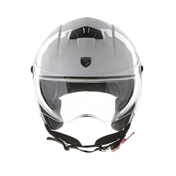 Panthera casco de moto half jet City blanco brillante talla XS