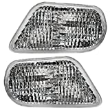 Driver and Passenger Park Signal Front Marker Lights Lamps Lenses Replacement for Pontiac 10301405 10301404