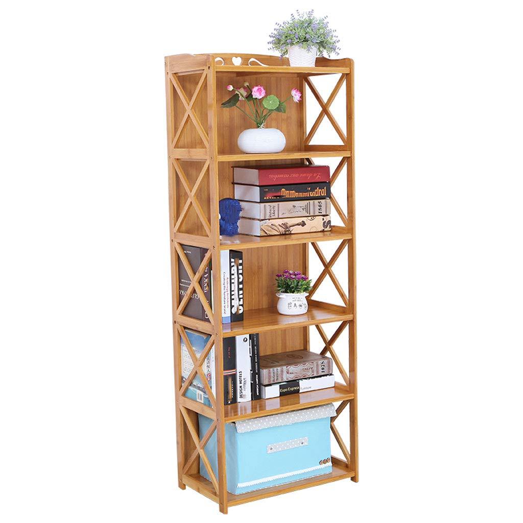 オープンシェルフラック 本棚シンプルな多層竹棚ソリッドウッドランディングアセンブリ本棚6rdフロア (Size : 42cm) B07SVMZ4DC  42cm
