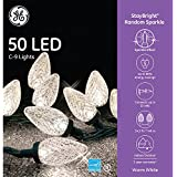 GE StayBright 50-Count 24.5-ft Sparkling Warm White C9 LED Plug-In Indoor/Outdoor Christmas String Lights