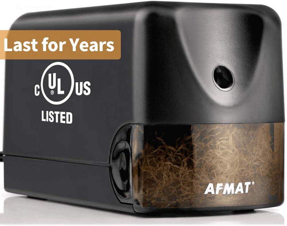 AFMAT Electric Pencil Sharpener Heavy Duty, Classroom Pencil Sharpener