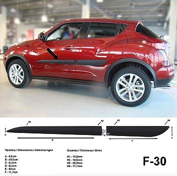 Spangenberg Listones de protección Lateral, Color Negro, para Nissan Juke SUV Combi a Partir de año de fabricación 2010 - F30 (370003001): Amazon.es: Coche ...
