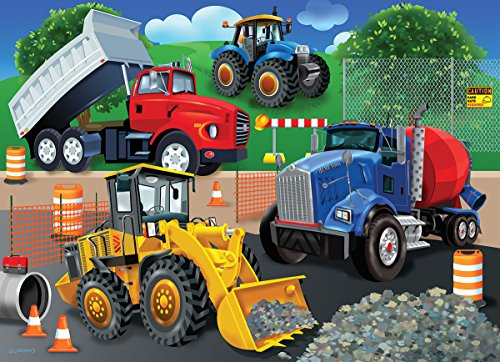 White Mountain Puzzles Trucks & Tractors - 24 Piece Jigsaw P