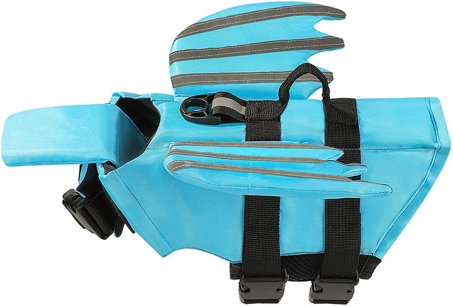 Xnbor Dog Life Jacket, Luminous Angel Wings Pet Floatation Life Vest for Small, Middle, Large Size Dogs, Dog Lifesaver Preserver Swimsuit for Water Safety at The Pool, Beach, Boating