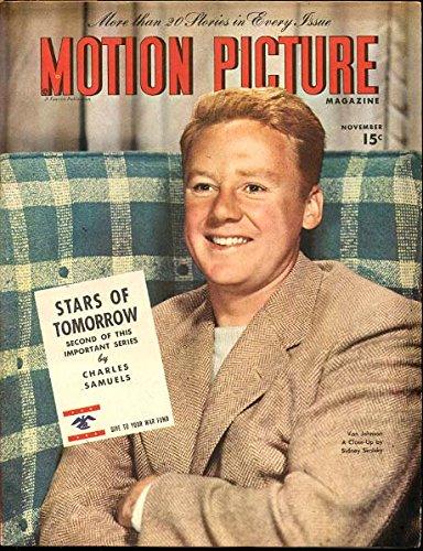 Motion Picture Magazine November 1945- Van Johnson cover