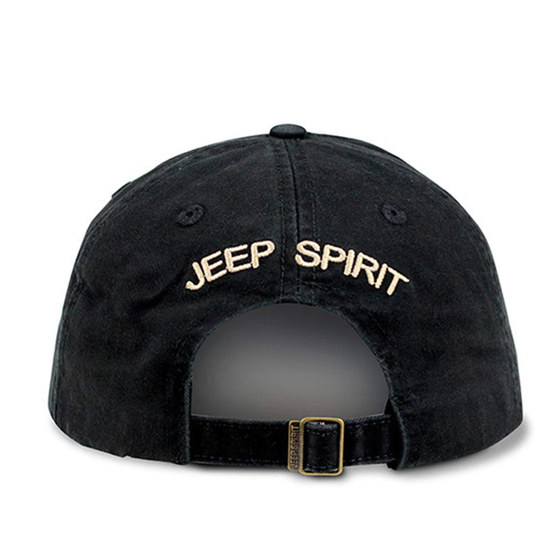 Yhsuk Jeep Logo Sandwich Peaked Hat//Cap Natural