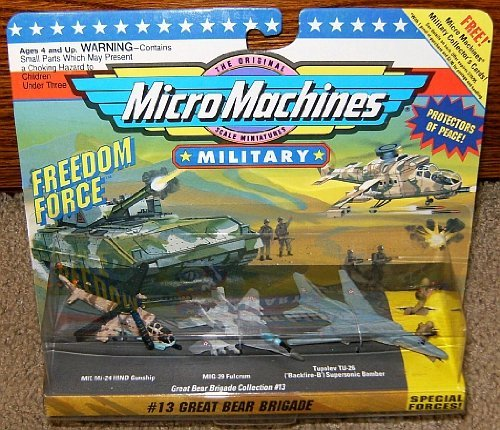 Combat Force Micro Helicopter - Micro Machines Great Bear Brigade #13 Military Collection